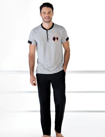 Şahinler - Şahinler Kısa Kollu Erkek Pijama Takım MEP24709-1