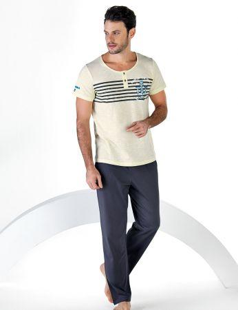 Şahinler - Şahinler Kısa Kollu Erkek Pijama Takım MEP24710-1