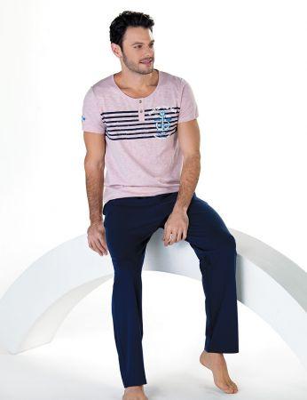 Şahinler - Şahinler Kısa Kollu Erkek Pijama Takım MEP24710-2