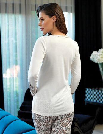 Şahinler - Şahinler Kol İşlemeli Kadın Pijama Takımı MBP24110-1 (1)