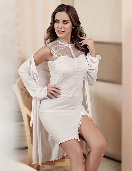 Şahinler - Sahinler Lace Nightgown Set MBP22818-1
