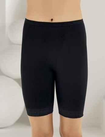 Sahinler Lace Rib Leggings Black MB005 - Thumbnail
