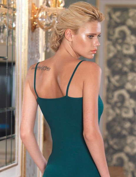 Şahinler - Sahinler Lace Singlet & Brief Set Dark Green MB2008 (1)