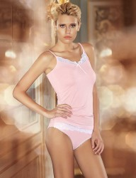 Şahinler - Sahinler Lace Singlet & Brief Set Spaghetti Strap Pink MB2008