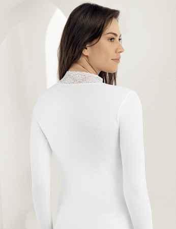 Şahinler - Sahinler Lace Turtleneck Body White MB622 (1)