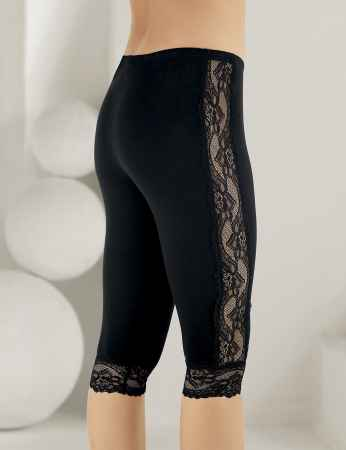 Şahinler - Sahinler Leggings Lace Side and Cuffs Black MB878 (1)