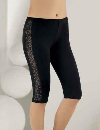 Sahinler Leggings Lace Side Black MB890 - Thumbnail