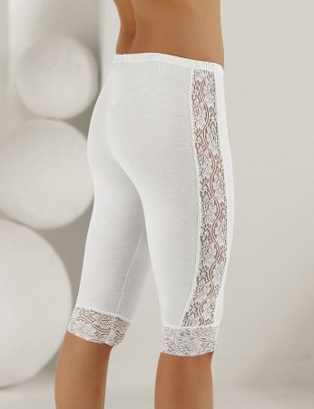 Şahinler - Sahinler Leggings Lace Side & Cuff White MB878 (1)