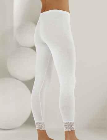 Sahinler Leggins lang Beinausschnitt mit Spitze weiß MB888 - Thumbnail