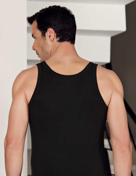 Şahinler - Şahinler Likralı Modal Atlet Siyah ME115 (1)