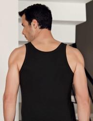 Şahinler Likralı Modal Atlet Siyah ME115 - Thumbnail