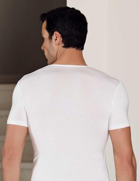 Şahinler - Şahinler Likralı Modal Kısakol Atlet Beyaz ME119 (1)