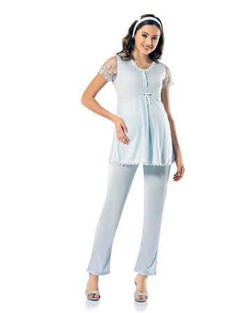 Şahinler Lohusa Pijama Takımı MBP24823-2 - Thumbnail