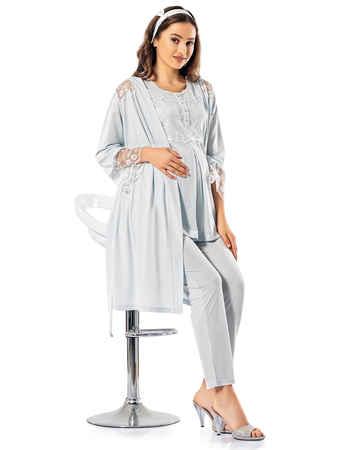 Şahinler Lohusa Pijama Takımı MBP24824-2 - Thumbnail