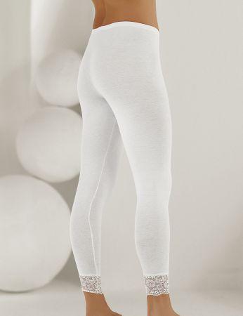 Şahinler - Sahinler Long Leggings Lace Cuff White MB888 (1)