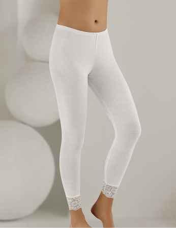 Sahinler Long Leggings Lace Cuff White MB888 - Thumbnail