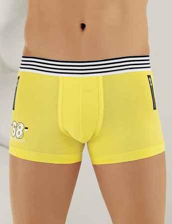 Sahinler Lycra Boxer-Short mit ATH Druck gelb ME113 - Thumbnail