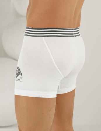 Şahinler - Sahinler Lycra Boxer-Short mit Krokodil-Aufdruck weiß ME110 (1)