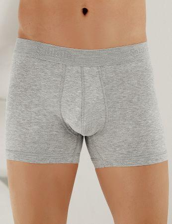 Sahinler Lycra Boxer-Short mit Sahinler Schriftzug und Eingriff grau ME031