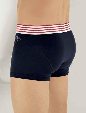 Sahinler Lycra Boxer-Shorts mit California Aufdruck Marineblau ME112 - Thumbnail