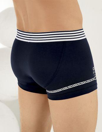 Sahinler Lycra Boxer-Shorts mit Flügel-Aufdruck Marineblau ME111