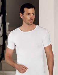 Şahinler - Şahinler Lycra Modal Short Sleeve Men Singlet White ME118