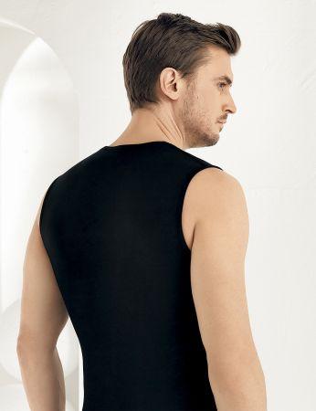 Şahinler - Şahinler Lycra Modal Sleeveless Men Singlet Black ME116 (1)