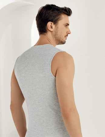 Şahinler - Şahinler Lycra Modal Sleeveless Men Singlet Grey ME116 (1)