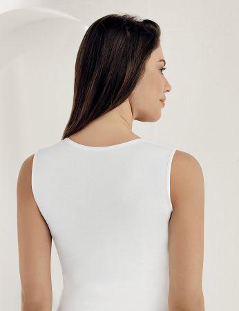 Sahinler Lycra Oberhemd ohne Ärmel weiß MB486