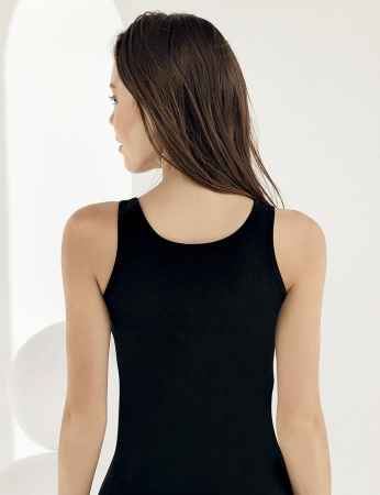 Sahinler Lycra Singlet Lace Roba Black MB1006 - Thumbnail