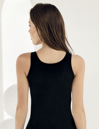 Sahinler Lycra Singlet Lace Roba Black MB1006