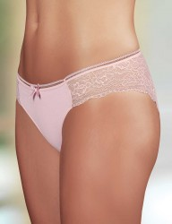 Şahinler - Sahinler Lycra Slip mit Spitze rosa MB3016