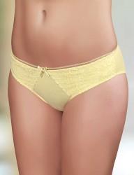 Şahinler - Sahinler Lycra Slip vorne mit Spitze gelb MB3018
