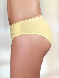 Sahinler Lycra Slip vorne mit Spitze gelb MB3018 - Thumbnail