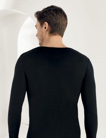 Sahinler Lycra Supreme Singlet Long Sleeve Black ME071