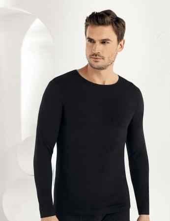 Sahinler Lycra Supreme Singlet Long Sleeve Black ME071 - Thumbnail