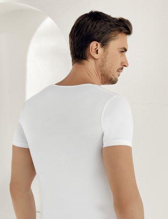 Sahinler Lycra Supreme Singlet Short Sleeve White ME084