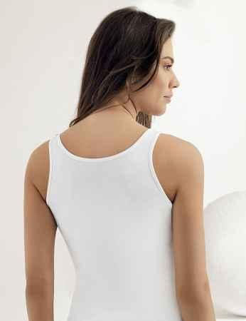 Şahinler - Sahinler Lycra Unterhemd Dekolleté aus Spitze weiß MB1006 (1)
