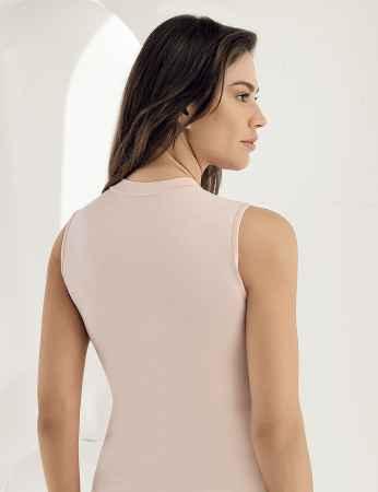 Şahinler - Sahinler Lycra Unterhemd mit Rollkragen ohne Ärmel rosa MB1009 (1)