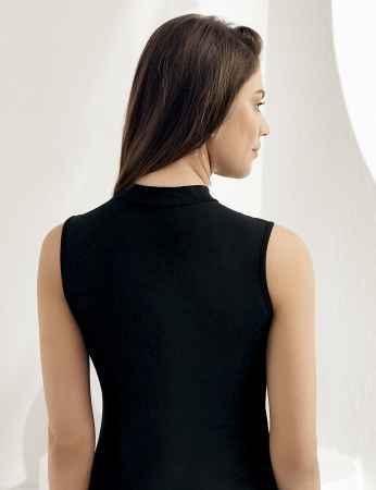 Şahinler - Sahinler Lycra Unterhemd mit Rollkragen ohne Ärmel schwarz MB1009 (1)