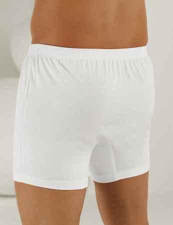 Şahinler - Sahinler Man Cotton Boxer Buttoned White ME010 (1)