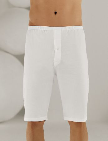 Sahinler Man Supreme Cotton Long Boxer White ME018