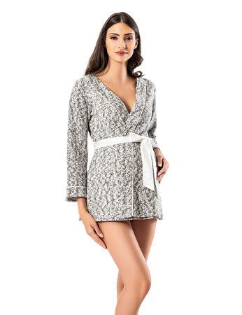 Şahinler - Şahinler Maternity Morning Gown White MBP23731-1