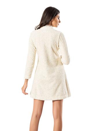 Şahinler - Şahinler Maternity Morning Gown Ecru MBP23735-1 (1)