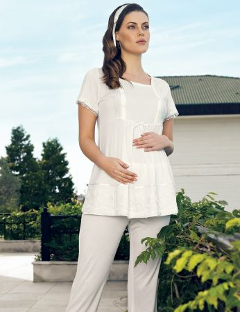Şahinler - Şahinler Maternity Morning Gown Pajama Set MBP24127-1 (1)