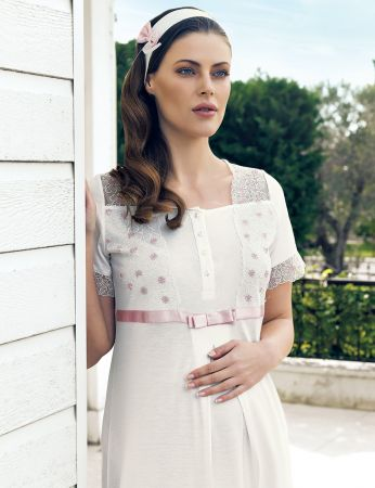 Şahinler - Şahinler Maternity Nightgown MBP24123-1 (1)