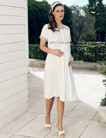 Şahinler - Şahinler Maternity Nightgown MBP24123-1
