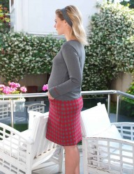Sahinler Maternity Nightgown & Morning Gown Set MBP22438-1 - Thumbnail