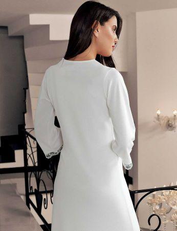 Şahinler - Şahinler Maternity Nightgown Morning Gown Set & Slipper Gfft Ecru MBP23736-1 (1)