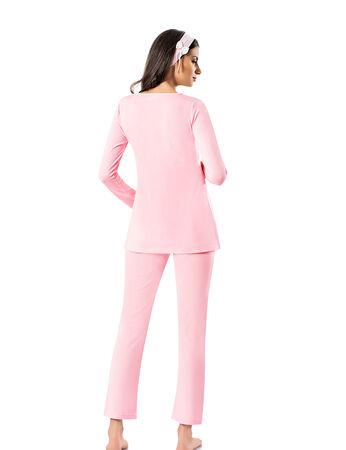 Şahinler - Şahinler Maternity Pajama Set & Slipper Gift Pink MBP23725-1 (1)